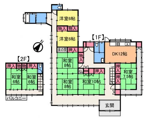 建物間取図